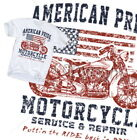 American Pride Motorcycle T-Shirt Classic USA Biker Route 66 Harley Ride Gr.S-XL
