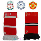 Official Mens Womens Man Utd Manchester United Liverpool LFC Football Scarf New