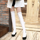 Womens Over The Knee High Boots High Heels Creeper Platform Side Zip Roma Shoes