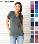 B6405 Bella+Canvas Women's Missy Short Sleeve V-Neck Tee T-Shirt 6405-20 COLORS!