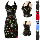 UK Stock Vintage Style 60s Rockabilly Cocktail Party Prom Ball Dress Size 6 8++