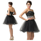 Ladies Mini Cocktail Ball Gowns Shiny Evening Dresses Formal Party Pageant Proms