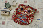 kawaii shabby chic Ditsy Floral OWL Clasp Purse Wallet Phone cosmetic pocket bag