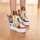 Womens Oxford Flat Platform Lace Up Wings Skateboarding Sneakers Shoes Trainers