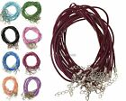 9 Color,Hot 10Pcs Real Leather Chains Necklace Charms Findings String Cord 2mm
