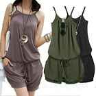 Womens Pants Spaghetti Strap Jumpsuit Ladies Shorts Sexy Summer Romper sz 8 10
