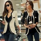 Fashion New Fitted Ladies Womens Slim Suit Coat Blazer Jacket One Button S M XL