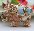 Cute Hollow elephant keychain Charm Pendent Crystal Purse Bag Key Chain YSK52