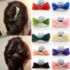 Vintage Style Styling Festival Satin Bow Hair Accessories Comb Wedding Party