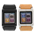 New Leather Multi Touch Wrist Band for iPod Nano 6th Generation Black
