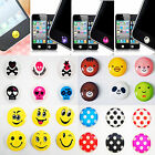 HOME BUTTON DECAL FUNNY CARTOON & DIAMOND JEWEL BLING STICKER FOR APPLE DEVICES
