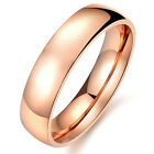 J157 Fashion Titanium Steel Rose gold Plated Promise Ring Wedding GIFT