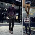 Mens Chino Casual Formal Slim Fit Trousers Pants Straight Leg Skinny Jeans