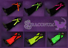 1 Pair Neon Orange Pink Green Black with Bow Knitted Leg Ankle Warmers Hen Fancy