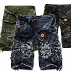 Herrenmode Cargo Pants Hose Casual Trousers Military Combat Army CAMO Shorts