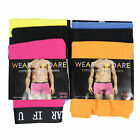 Mens New Neon Coloured Boxer Shorts Men's Cotton Fitted Boxer Trunks Shorts S-XL