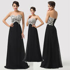 Formal Sexy Long Women New Strapless Chiffon Ball Gown Evening Prom Party Dress