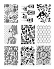 1 DARICE Prägeschablone EMBOSSING FOLDER für Cuttlebug BIG SHOT 19100-108