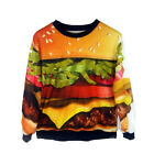 Womens 3d Print T Shirt Sweater Sweatshirt Loose Casual Pullover Tops Tracksuit