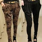 New Hot Women Lady Fashion Stretch Drape Leopard Harem Pants Hip-Hop Trousers
