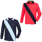 New Front Row Diagonal Stripe Mens Long Sleeved Sweatshirt Rugby Top Size S-XXL
