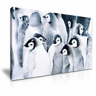 PENGUIN In Snow Canvas Framed Printed Wall Art - More Size
