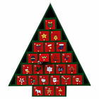 WOODEN ADVENT CALENDAR CHRISTMAS TREE - REUSABLE XMAS COUNTDOWN DECORATION