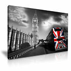 CITYSCAPE Europe UK London BUS 1 Canvas Framed Printed Wall Art - More Size