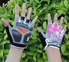 Outdoor Sports Cycling Gloves Bike Bicycle Gel Half Finger Gloves Size M-XL Pink
