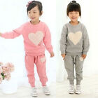 New Autumn Girls Sportswear 2Pcs Baby Long Sleeve Top+Trouser Tracksuit Outfits