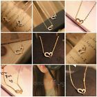 Crystal Rhinestone Jewelry Love Heart pendant Necklace Silver Women Ladies