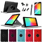 For LG G Pad 7.0 7-inch Rotating Stand Leather Smart Case Cover 7in1 Bundles