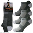 3 Pairs of Mens TRAINER SOCKS/LINERS Sports Cotton Sizes 6 To 13 Big Feet/Foot