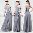 New Long Evening Formal Party Masquerade Prom Wedding Bridesmaid Dress Size 6-20