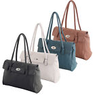 Ladies Womens Designer Boutique Faux Leather Shoulder Satchel Handbag Bag New
