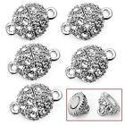 Hot! 5 Pcs Round Crystal Rhinestone Strong Magnetic Clasps Jewelry Findings 9mm