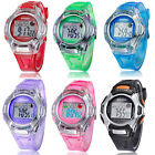 1PC Kids Sports Digital LED Watches Wrist Watch Alarm Date Rubber Wrist Vogue