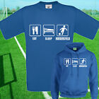 EAT, SLEEP, HUDDERSFIELD FOOTBALL T SHIRT / HOODIE - KIDS ADULTS  TOP