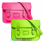 Womens LYDC Designer Neon Pink Green Satchel Girls School Shoulder Bag Handbag