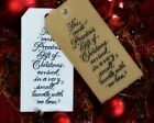 10 Christmas Gift Tags★Wrapping★Handmade★Religious Sentiment★PRECIOUS GIFT