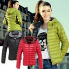 TB Lady warm Simple Winter comfortable style Thin Down Coat Jacket Overcoat US 1