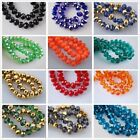 70Pcs 8mm Rondelle Faceted Crystal Glass Loose Beads DIY Findings, Hot