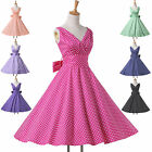 Sweet Vintage 50s 60s Rockabilly Housewife Party Evening Pinup Sexy Swing Dress