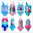 Girls Queen Frozen Elsa Anna Swimwear Swimsuit 3-10Y Kids Bikini Tankini Bathing