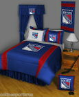 New York Rangers Comforter and Sham Twin to King