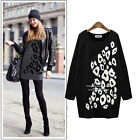 New Occident Women Plus Size Loose Long Sleeve Printed Crewneck Casual Top M~5XL