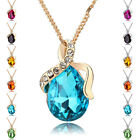 Diamond 12 Colors Drop Shape Crystal Chrismas Gift Fashion Necklaces 20j0