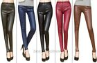 Latest  Lady's Sexy Skinny Stretch Tights Pants Imitation Leather Leggings