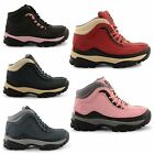 NEW LADIES GROUNDWORK HIKING STEEL TOE LACE UP BOOTS SAFETY SHOES UK SIZE 3-8