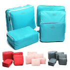 5PCS Waterproof Clothes Storage Bags Packing Cube Travel Luggage YGEW